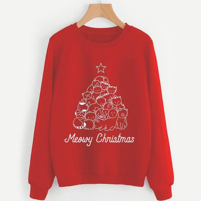 Meowy Xmas Tree Sweatshirt
