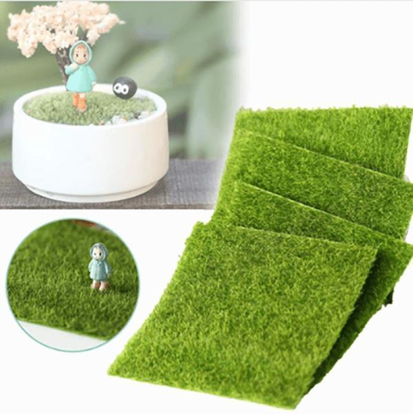 Mini Cat Essentials - 3x Bonsai , 2x Grass, 2x Moss
