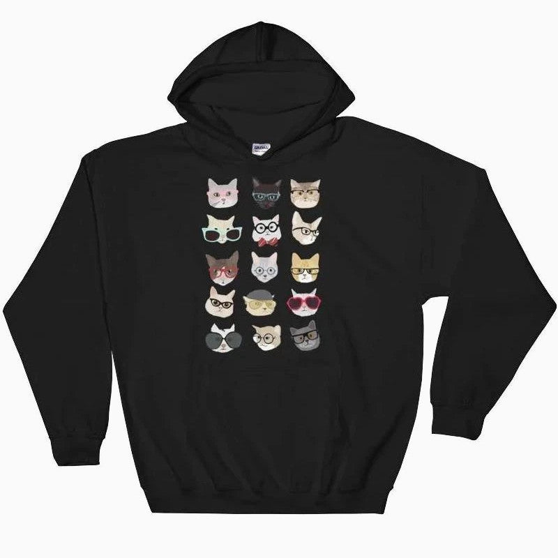 Multi Cat Hoodie - Pawsome Couture