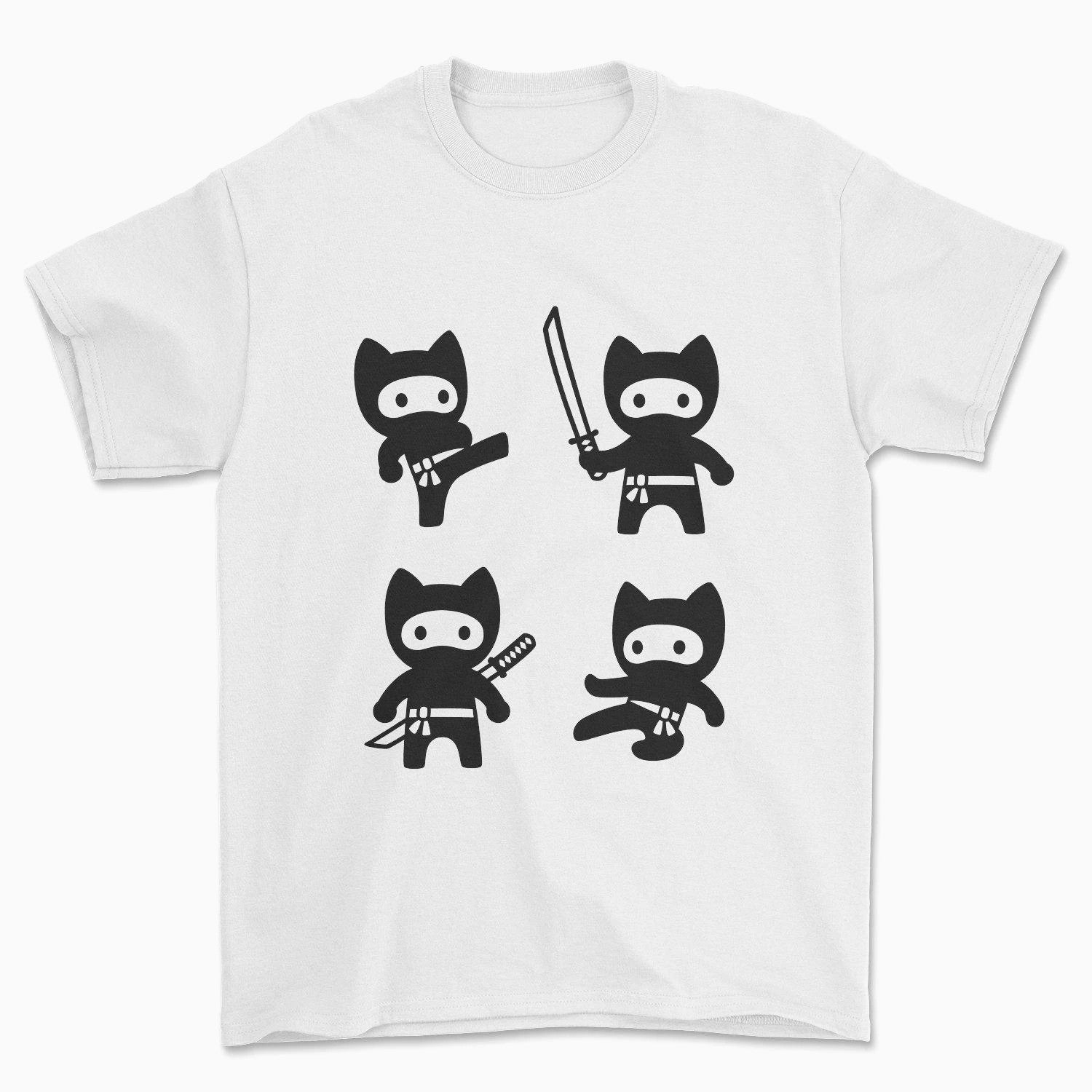 Ninja Cats T-Shirt - Pawsome Couture