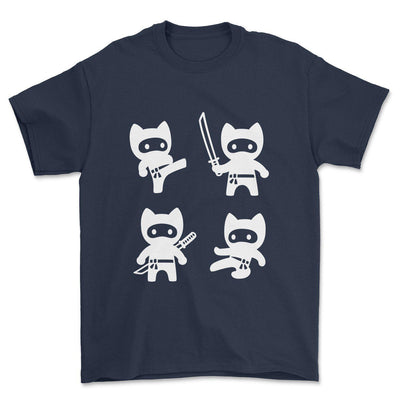 Ninja Cats T-Shirt-Pawsome Couture