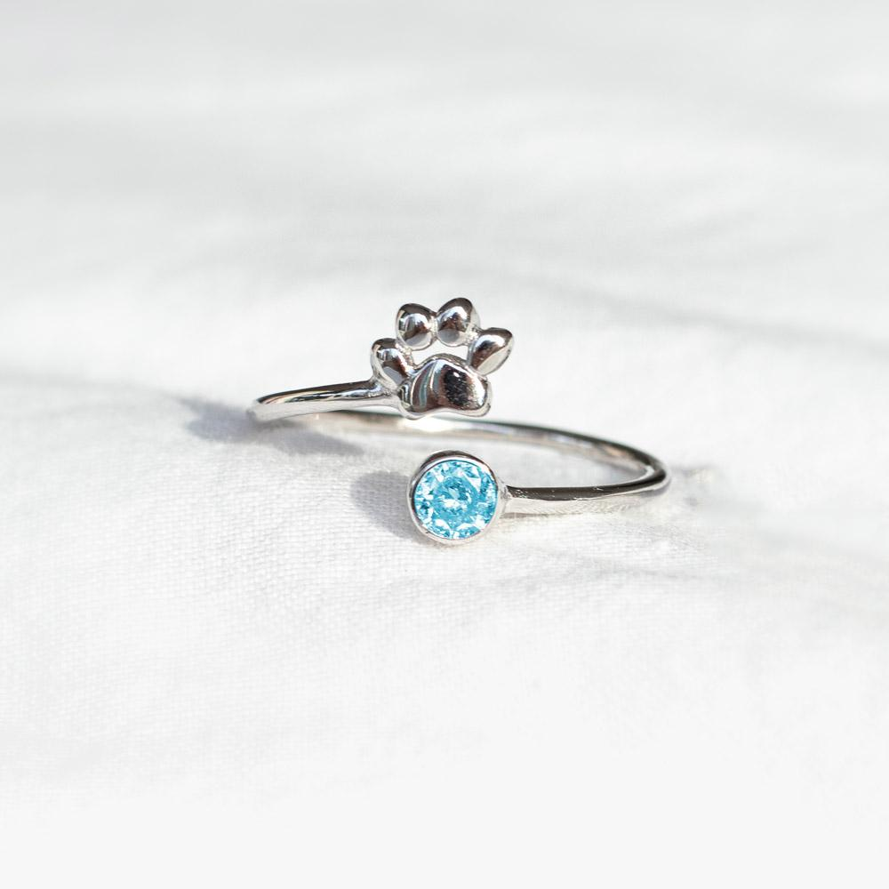 Paw Birthstone Ring-Pawsome Couture