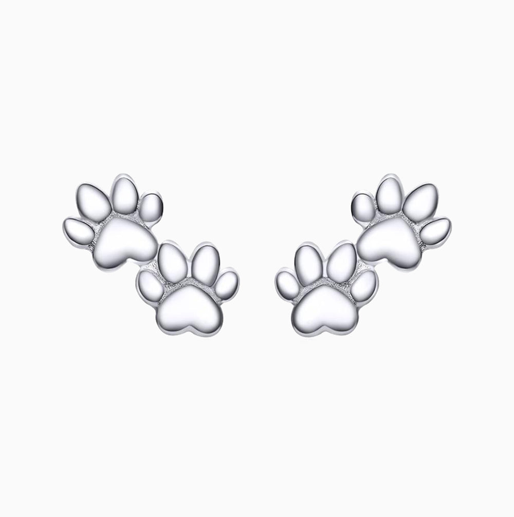 Double Paw Stud Earrings - Pawsome Couture