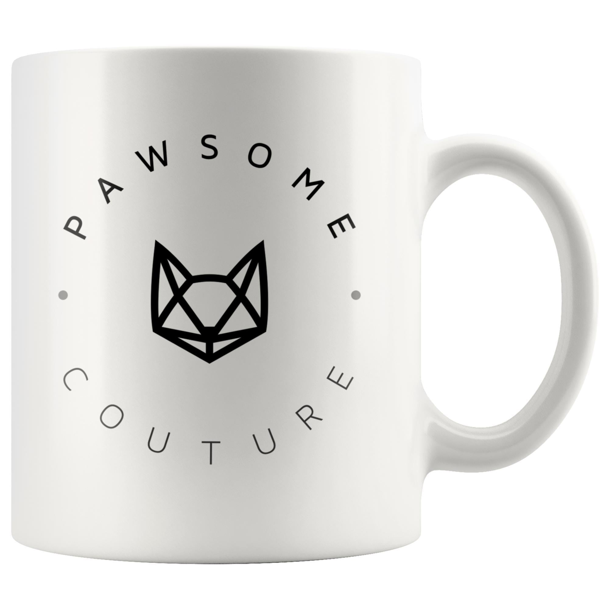 Pawsome Couture White Mug