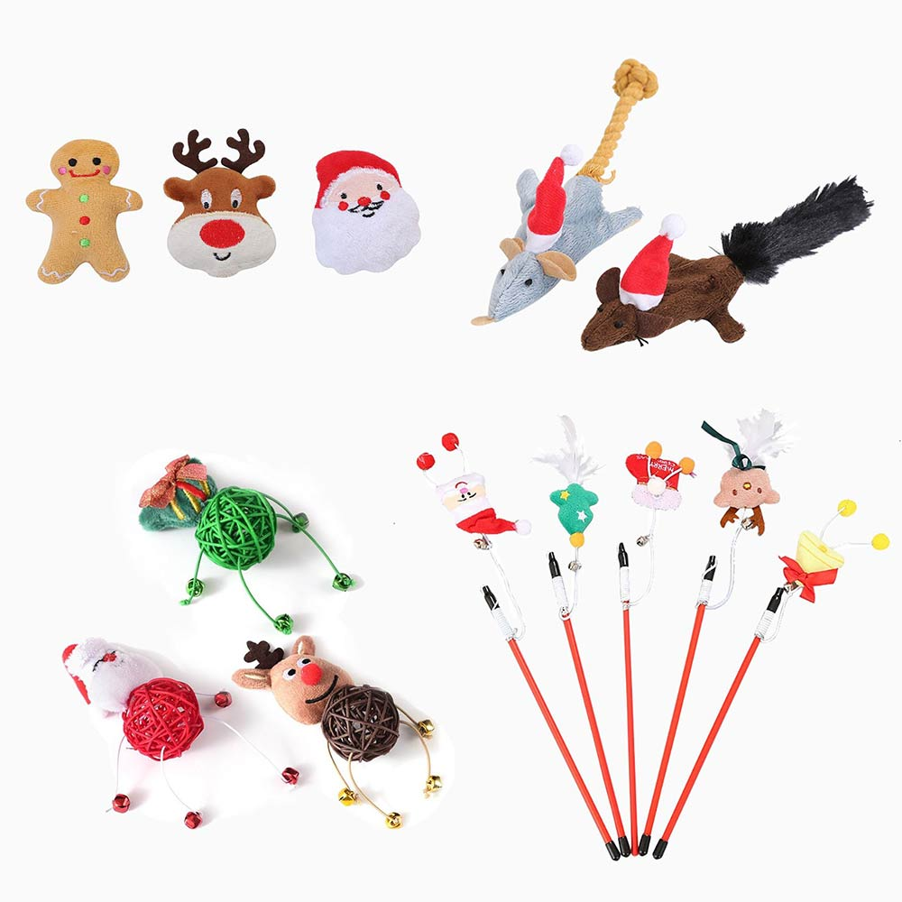 Christmas Catnip Toys Set