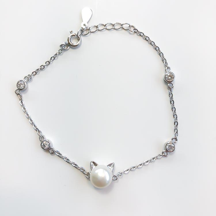 Pearl Cat Bracelet - Pawsome Couture