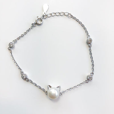 Pearl Cat Bracelet-Pawsome Couture