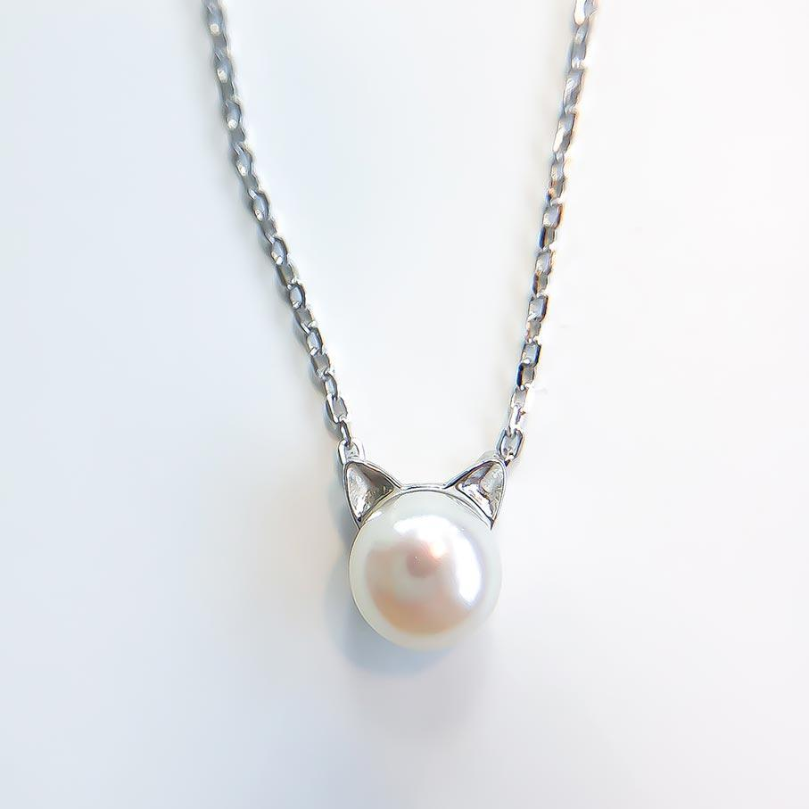 Pearl Cat Necklace - Pawsome Couture