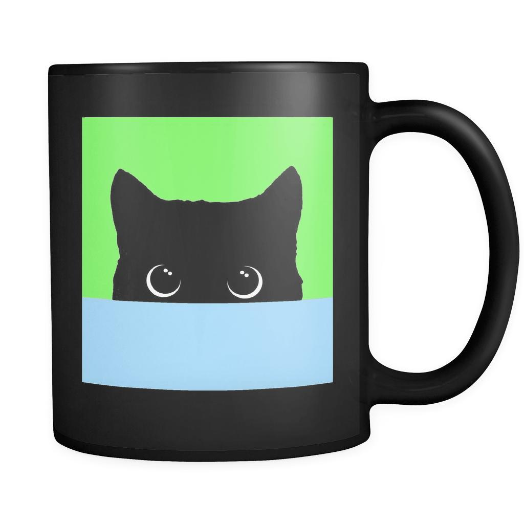 Peekaboo Green & Blue Mug