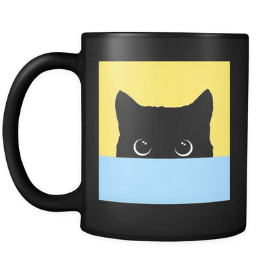 Peekaboo Yellow & Blue Mug