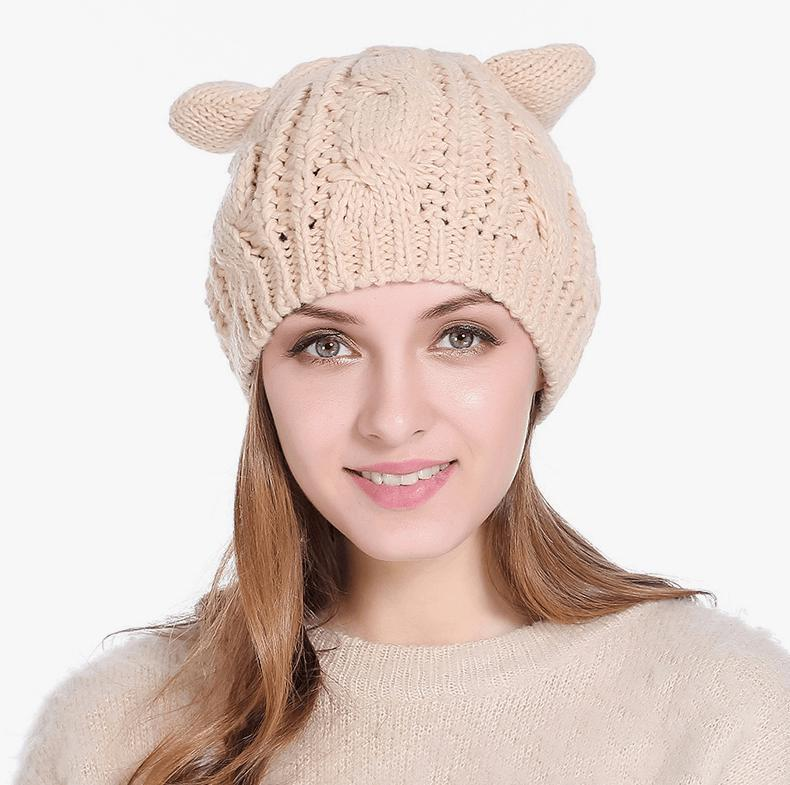 Snug Cat Ear Beanies 7 Colors-Pawsome Couture