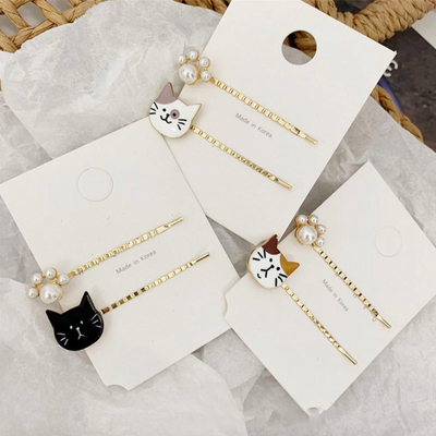 Sweet Cat Hair Slides (Set of 6)