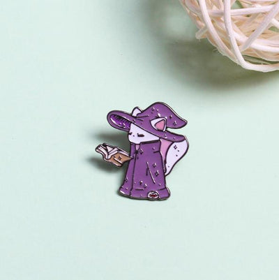 Wise Wizard Cat Pin
