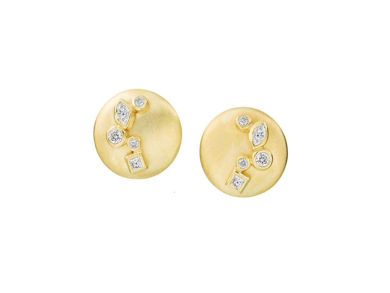 earrings yd pid and colored diamond gold halo yellow canary white ehrcc stud