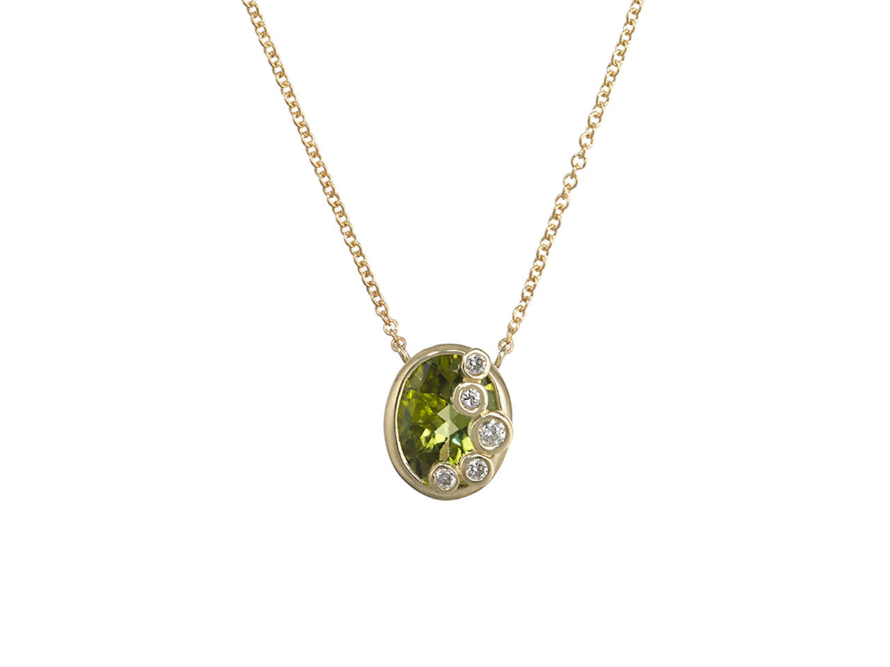 yellow necklace picture peridot pendant classic of stone gold single oval