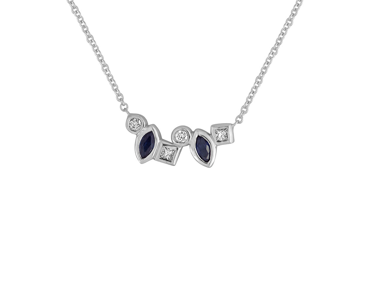 mark petite diamond gold michael necklace sapphire designs blue white