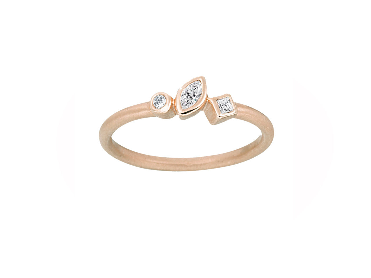 heart ko diamond shape pinky anita ring products