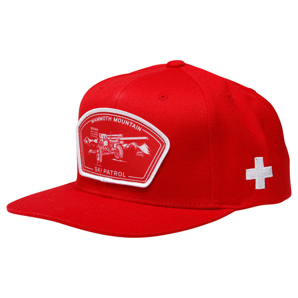 Avalanche Ski Patrol Red Snap Back Hat