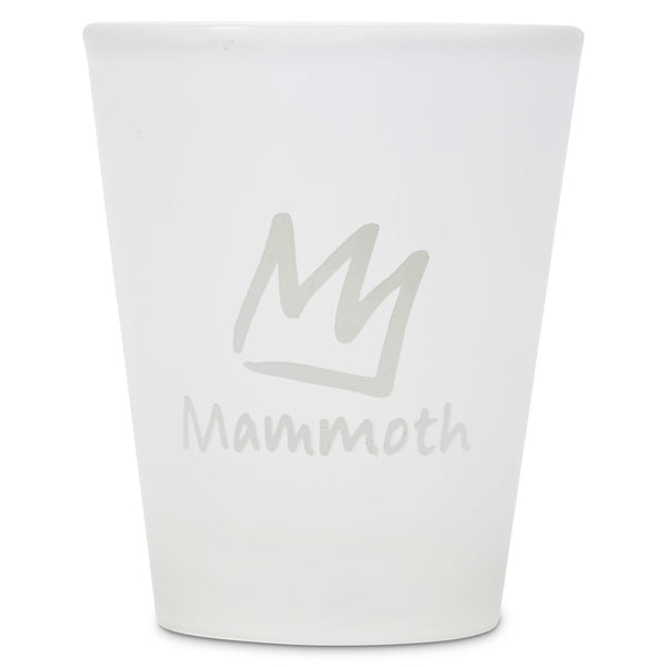 Frosted Shot Glass With Crown Logo