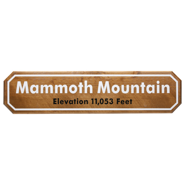 Mammoth Mountain Wooden Sign