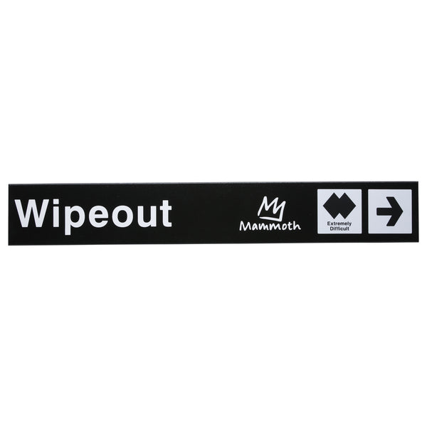 Mammoth Mountain Trail Sign - Wipeout Chutes