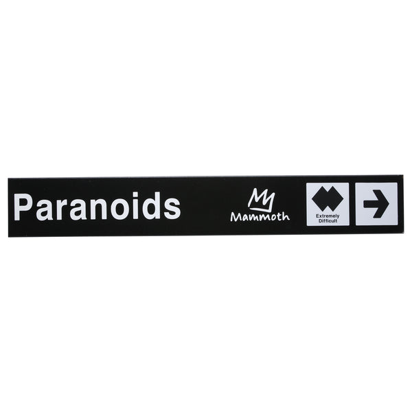 Mammoth Mountain Paranoids Trail Sign