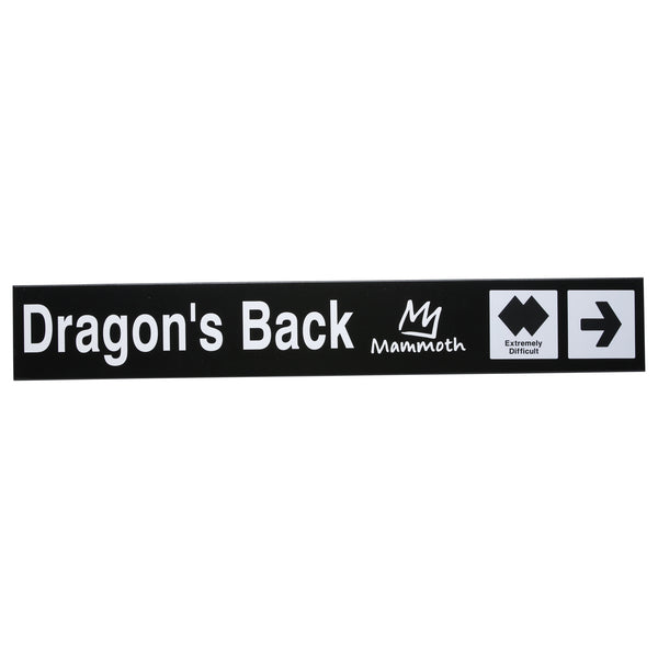 Mammoth Mountain Trail Sign - Dragon's Back