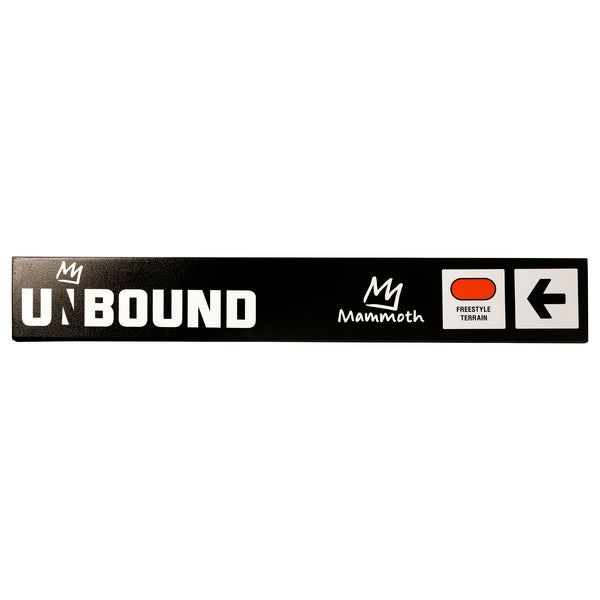 Mammoth Mountain Trail Sign - Unbound Terrain