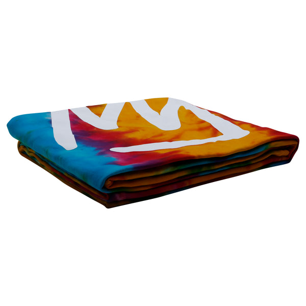 Tie Dye Crown Sweatshirt Blanket