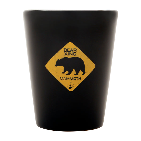 Bear Crossing Shot Glass