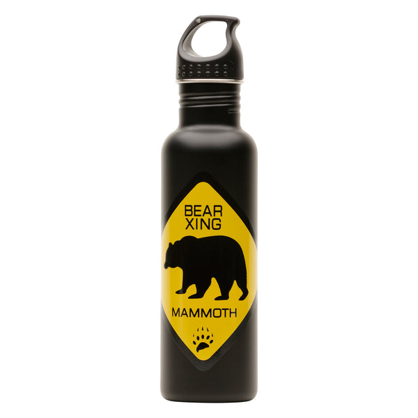 Bear Crossing Metal Water Bottle