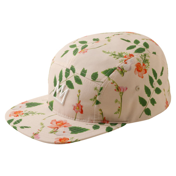 Crown Floral 5 Panel Hat