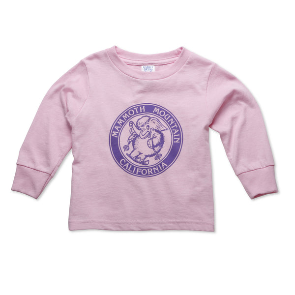 Toddler Skiing Woolly Long Sleeve Graphic T-Shirt