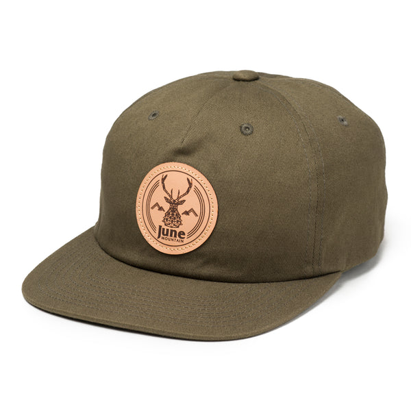 June Stag Leather Patch Hat