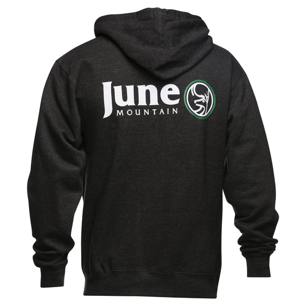 June Mountain Deer Logo Adult Zip Hoodie