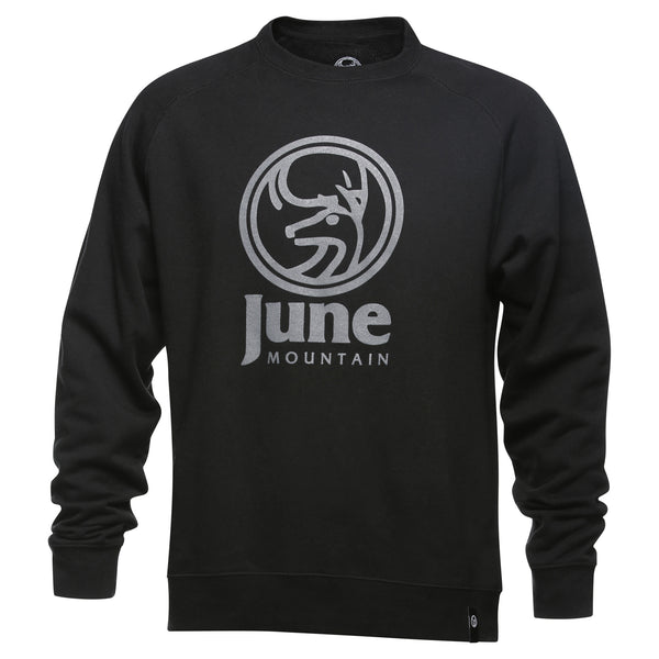 June Mountain Deer Logo Adult Crewneck