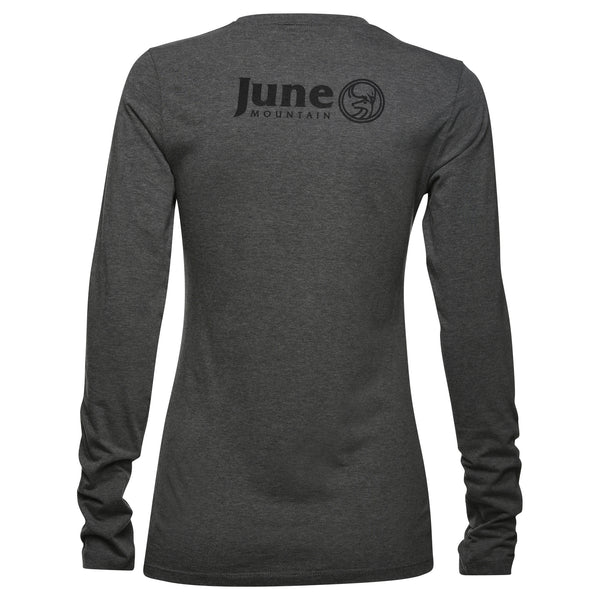 June Mountain Deer Logo Womens Long Sleeve T-shirt