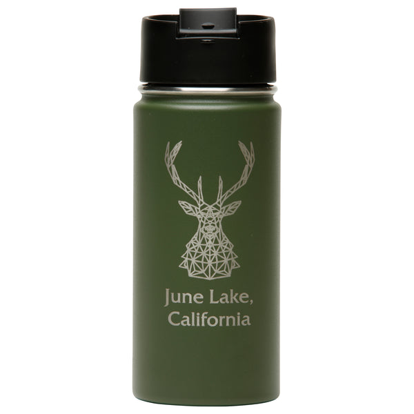 June Mtn Stag Widemouth Water Bottle - 16oz