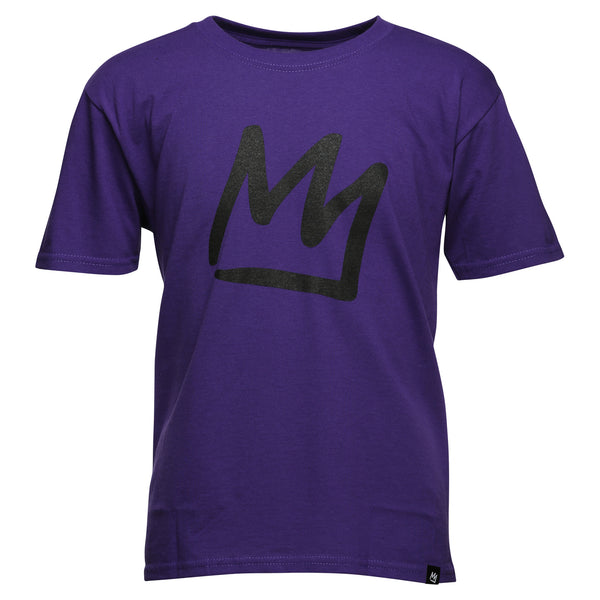 Crown Youth Purple Short Sleeve T-Shirt
