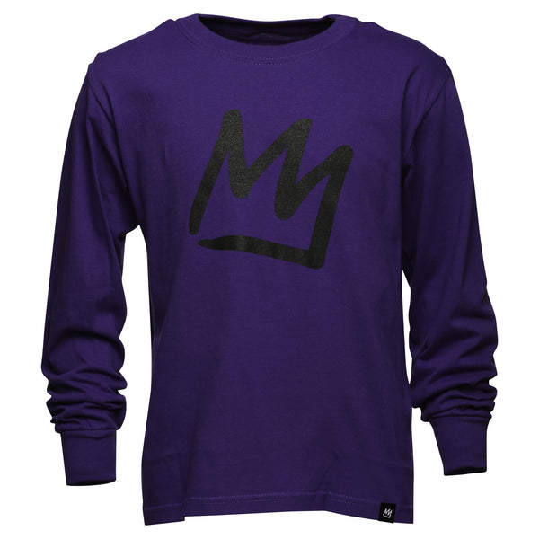 Crown Youth Purple Long Sleeve T-Shirt