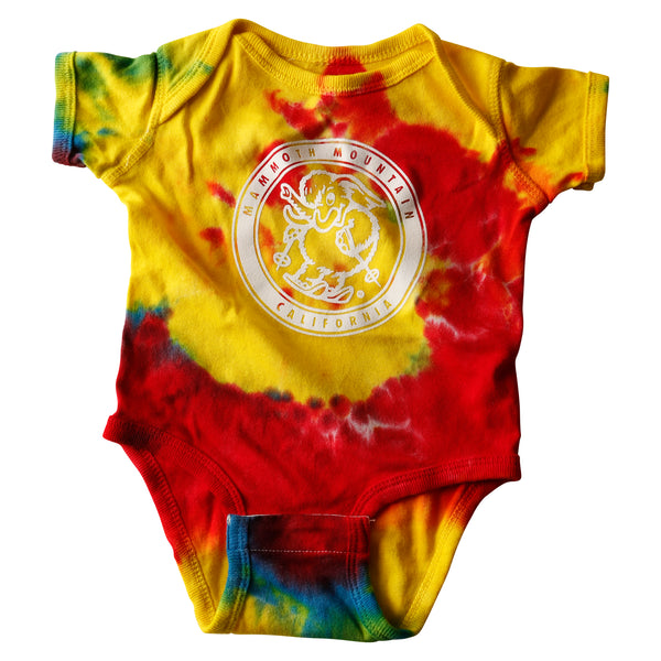 Tie Dye Skiing Infant Onsie