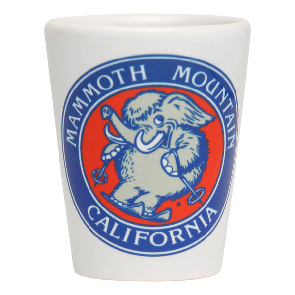 Skiing Woolly Shot Glass