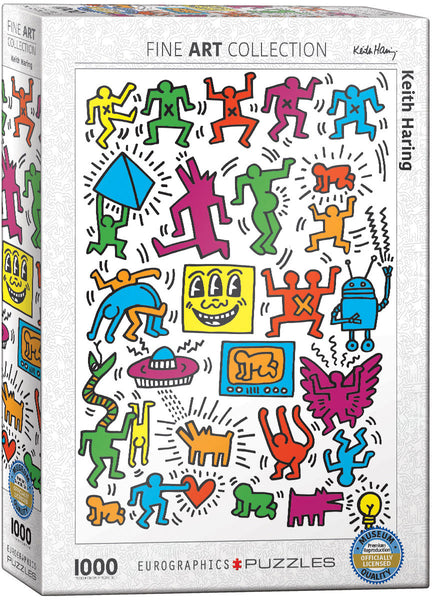 Keith Harring Collage Puzzle