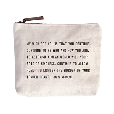 Canvas Zip Bag