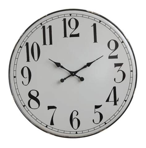 Grey & Black Metal Wall Clock