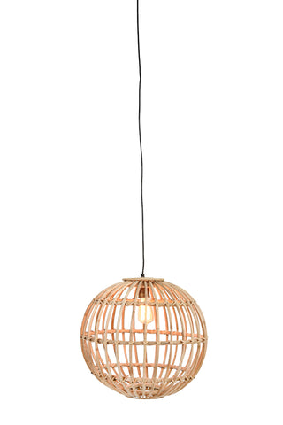 Round Handwoven Rattan Pendant Light - 2 Sizes