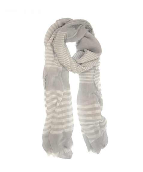Sheer Striped Scarf