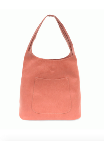 Slouchy Hobo Bag - Coral