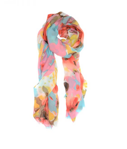 Bright Blooms Pink Scarf