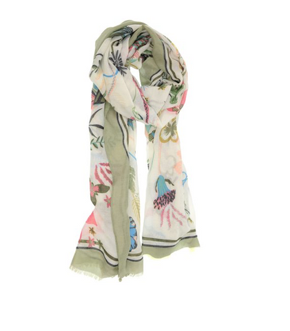 Bright Blooms Scarf - 2 Colors